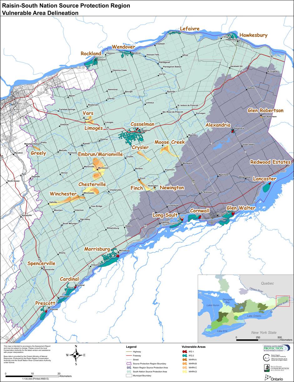Municipal drinking water systems raisin south nation for Environmental management bureau region 13